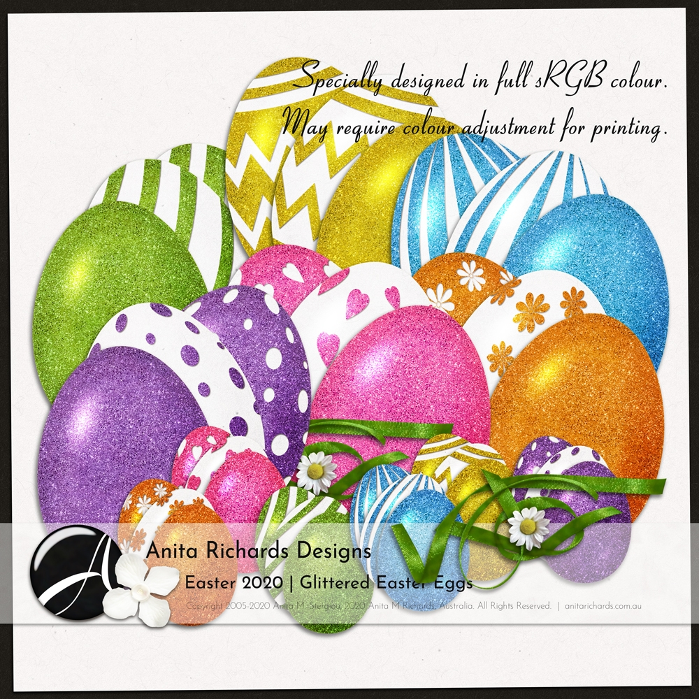 Easter 2020 :: Glittered Easter Eggs